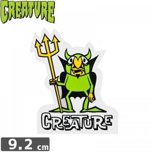 【クリーチャー CREATURE スケボー ステッカー】BEELZEBUB【9.2cmx7cm】NO40