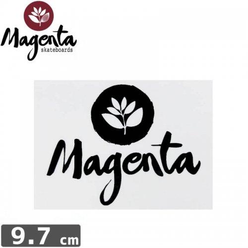 【MAGENTA マゼンタ スケボー ステッカー】CIRCLE LEAF【7cm × 9.7cm】NO2