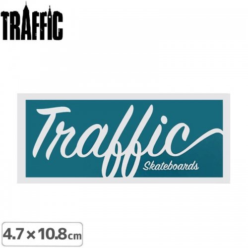 【TRAFFIC トラフィック スケボー ステッカー】LOGO STICKER【4.7cm × 10.8cm】NO1