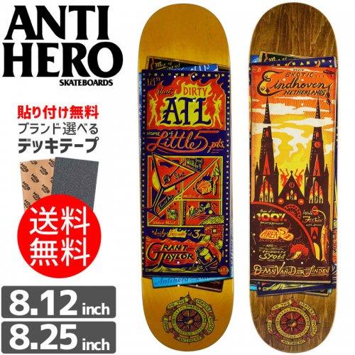 【ANTI HERO アンタイヒーロー デッキ】MAPS TO THE SKATERS HOMES DECK[8.12インチ][8.25インチ]NO113
