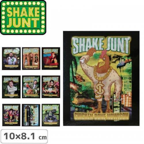 【シェークジャント SHAKE JUNT STICKER ステッカー】CHICKEN BONE AD【10cm x 8.1cm】NO51