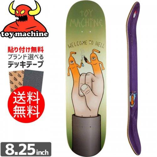 【トイマシーン TOY MACHINE スケートボード デッキ】WELCOME TO HELL DECK[8.25インチ]NO163