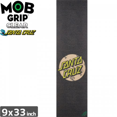 【モブグリップ MOB GRIP デッキテープ】SANTACRUZ DOT  CLEAR GRIP TAPE【9 x 33】NO172