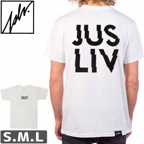【ジャスリブ JSLV スケボー Tシャツ】JSLV CHARGED TEE【ホワイト】NO8