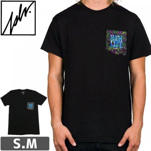 【ジャスリブ JSLV スケボー Tシャツ】HIGH XJAY CREST POCKET TEE【ブラック】NO11