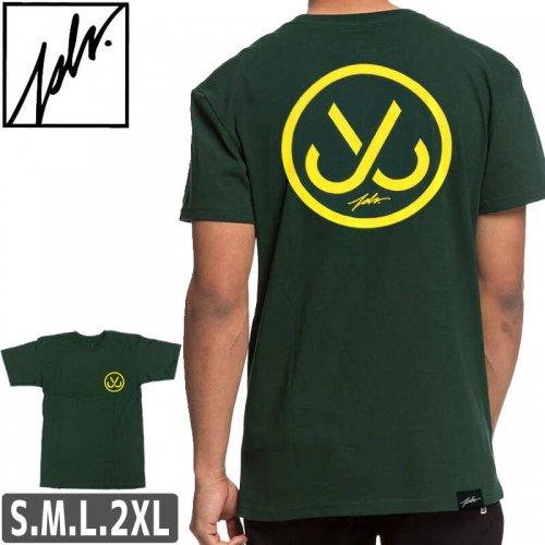 【ジャスリブ JSLV スケボー Tシャツ】HOOKS 2 SELECT TEE【グリーン×イエロー】NO13