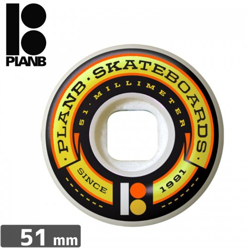 【PLAN-B プランビー ウィール】TEAM BANNER WHEEL【51mm】NO22