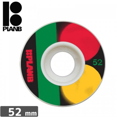 【PLAN-B プランビー ウィール】RASTA WHEEL【52mm】NO23
