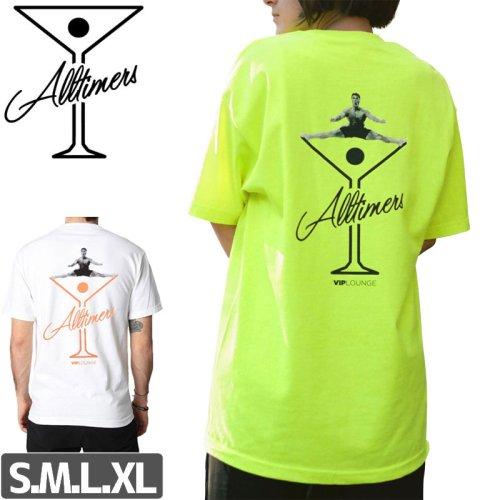 【ALLTIMERS オールタイマーズ スケボー Tシャツ】SPLITS LOGO TEE【ホワイト】【セーフティグリーン】NO1