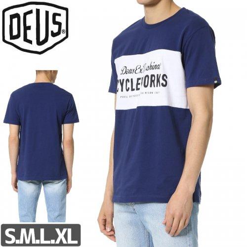 【DEUS EX MACHINA デウス スケボー Tシャツ】CYCLE TOUR TEE【ネイビー】NO1