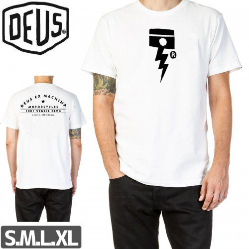 【DEUS EX MACHINA デウス スケボー Tシャツ】VENICE ADDRESS TEE【ホワイト】NO5