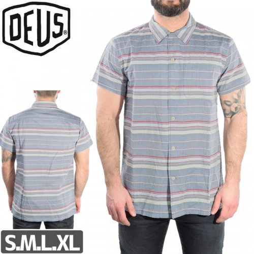 【DEUS EX MACHINA デウス スケボー シャツ】DEAN STRIPE SHIRTS NO1
