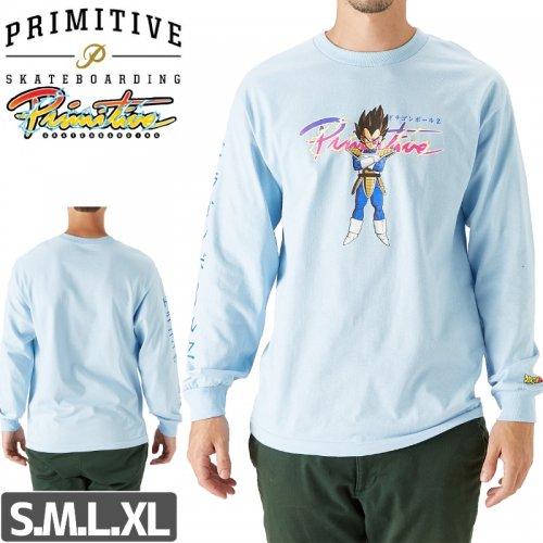 【PRIMITIVE プリミティブ スケボー ロング Tシャツ】NUEVO  VEGETA L/S TEE 【パウダーブルー】 NO4
