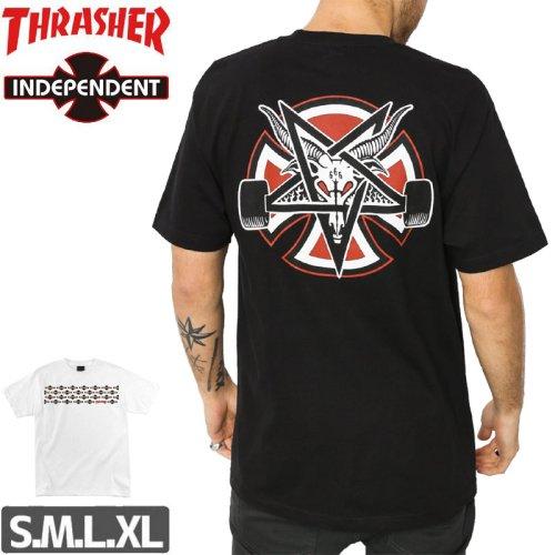 【インディペンデント スラッシャー Tシャツ】INDEPENDENT x THRASHER PENTAGRAM CROSS TEE NO159