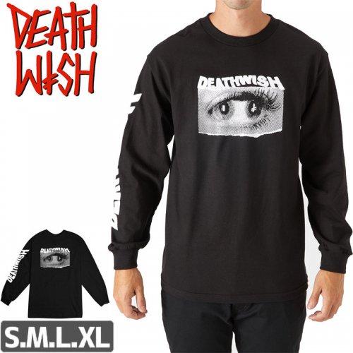 【デスウィッシュ DEATHWISH スケボー ロングTシャツ】DOUBLE VISION LONGSLEEVE【ブラック】NO3