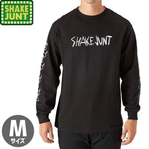 【シェイクジャント SHAKE JUNT  ロングTシャツ】KADER SKULLS LONGSLEEVE TEE【ブラック】NO3