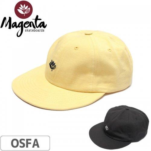 【MAGENTA マゼンタ スケボー キャップ】6 PANEL CAP【ダークグレー】【イエロー】NO5