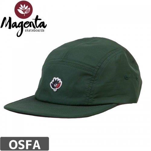 【MAGENTA マゼンタ スケボー キャップ】5 PANEL CAP NYLON GREEN【ダークグリーン】NO6