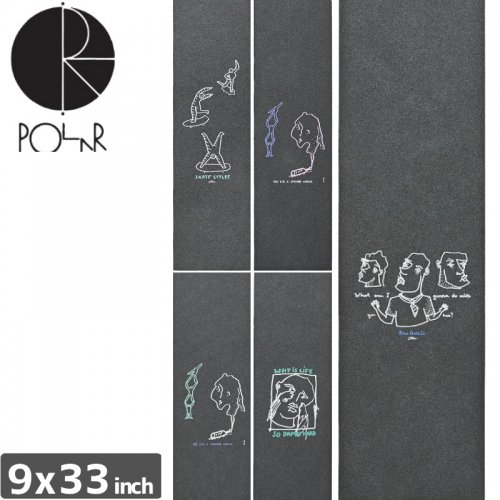 【POLAR ポーラー スケボー デッキテープ】SKATE CO DOODLE GRIPTAPE【9x33】NO1