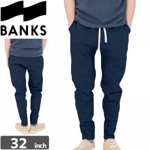 【BANKS JOURNAL バンクス  ボトム スウェット】IGGY TRACKSUIT PANTS【ネイビー】NO2