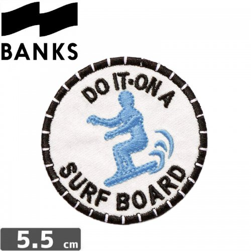 【BANKS JOURNAL バンクス  ワッペン】DO IT PATCHES【5.5cm】NO1
