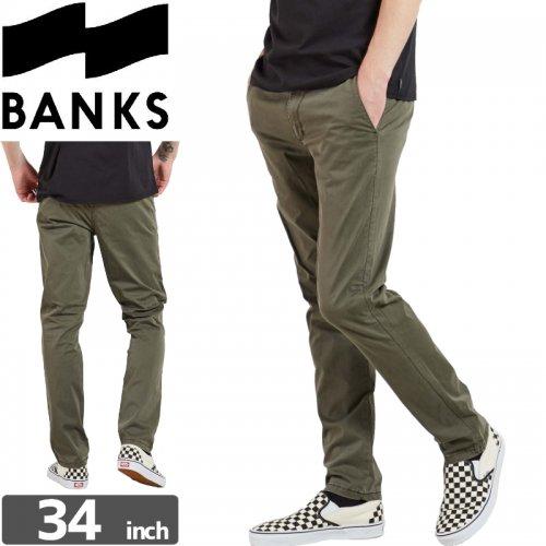 【BANKS JOURNAL バンクス ボトム】STAPLE PANTS【カーキ】NO3