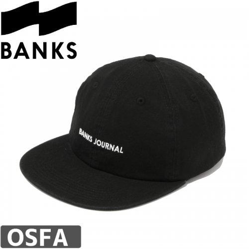 【BANKS JOURNAL バンクス サーフ キャップ】LABEL CAP【ブラック】NO1