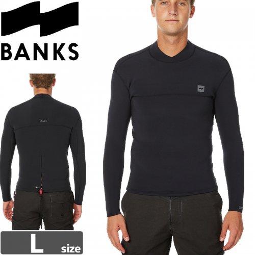 【BANKS JOURNAL バンクス ウェットスーツ タッパ】ONE BACK ZIP JACKET【ブラック】NO1