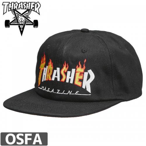 【スラッシャー THRASHER  キャップ】FLAME MAG SNAPBACK CAP【ブラック】NO41