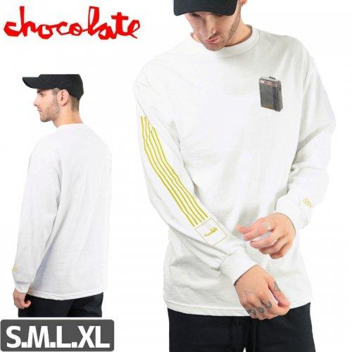 【チョコレート CHOCOLATE スケボー ロングTシャツ】BEEPER LONG SLEEVE 長袖【ホワイト】NO12