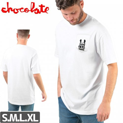 【チョコレート CHOCOLATE スケボー Tシャツ】SIGNS DARKSNESS【ホワイト】NO177