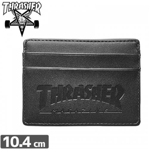 【スラッシャー THRASHER カードケース】USモデル CARD WALLET【ブラック】IDケース NO4