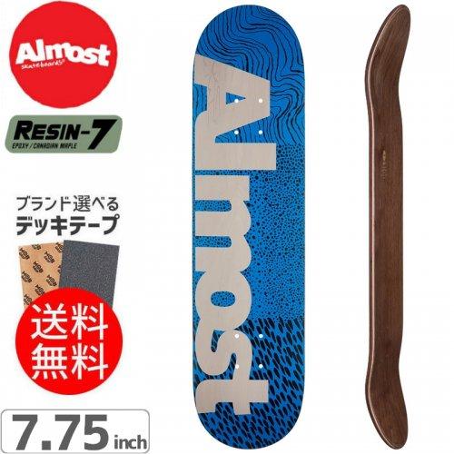 【オルモスト ALMOST デッキ】CT LOGO HYB BLUE DECK[7.75インチ]NO125