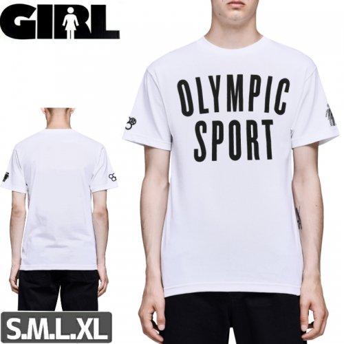 【ガール GIRLSKATEBOARD  スケボー Tシャツ】SPORT TEE【ホワイト】NO299
