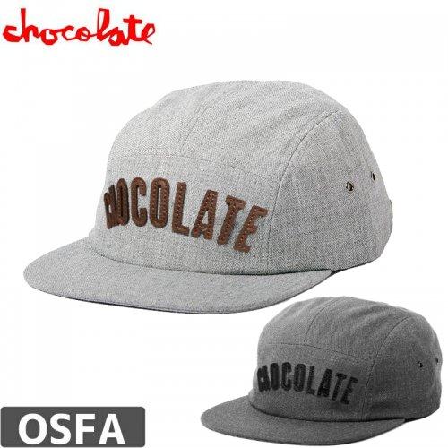 【チョコレート CHOCOLATE スケボー キャップ】LEAGUE 5-PANEL CAP【グレー】【チャコール】NO76