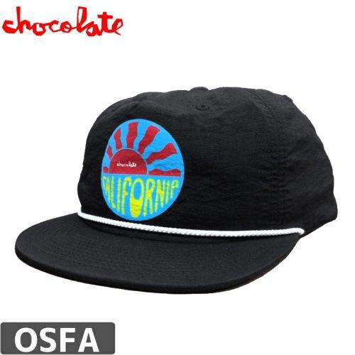 【チョコレート CHOCOLATE スケボー キャップ】CALI SUN NYLON CAP【ブラック】NO77