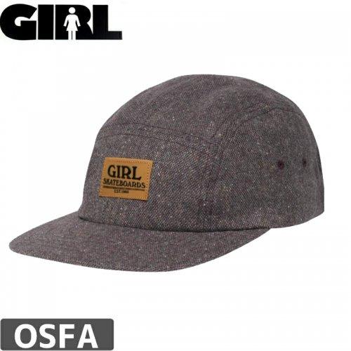 【ガール GIRL スケボー キャップ】BROADWAY CAMPER HAT【パープル】NO77