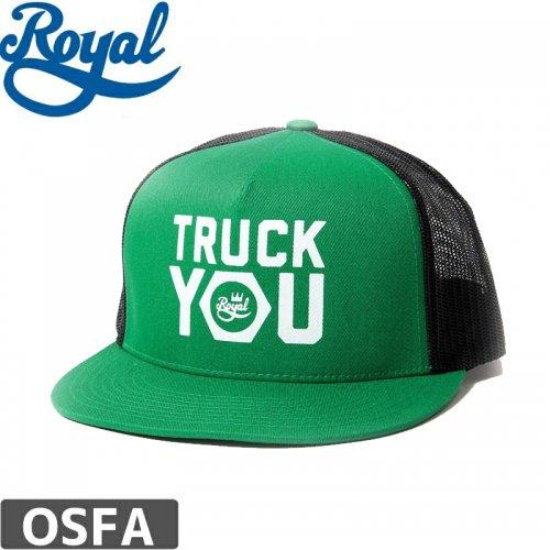 \1週間SALE/【ロイヤル ROYAL TRUCKS スケボー キャップ】TRUCK YOU MESH TRUCKER HAT【グリーン】NO11