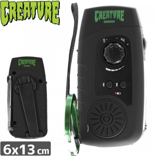 【クリーチャー CREATURE スケボー ラジオ LED バッテリー】FLASHCASTER FLASHLIGHT RADIO【ブラック】NO16