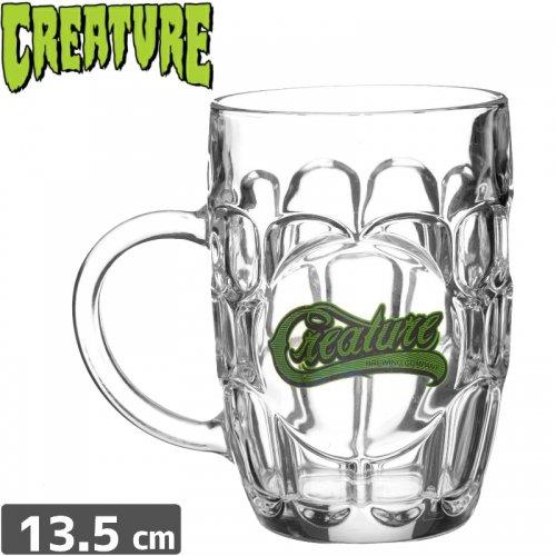 【クリーチャー CREATURE スケボー ビール グラス】HESH BRUE MUG【クリア】NO17