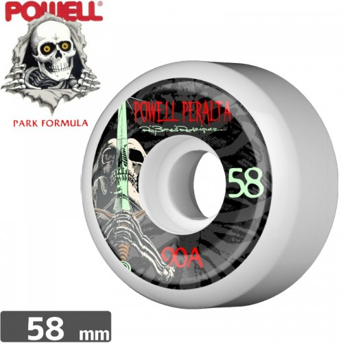 【パウエル POWELL スケボー ウィール】RAY ROD SKULL & SWORD WHEEL【58mm】【90A】NO22