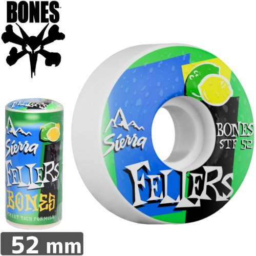 【ボーンズ BONES スケボーウィール】FEELERS MIST WHEELS STF 【V3】【52mm】NO155