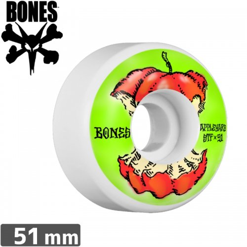 【ボーンズ BONES スケボーウィール】APPLEYARD APPLE WHEELS STF 【V2】【51mm】NO156