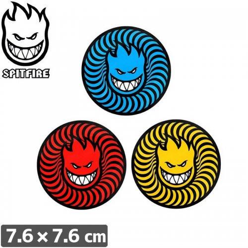 【スピットファイアー SPITFIRE スケボー ステッカー】SWIRL HEAD 3 STICKER【7.6cmx7.6cm】NO95