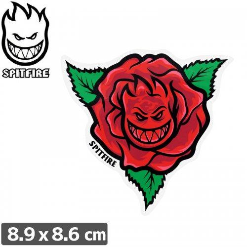 【スピットファイアー SPITFIRE スケボー ステッカー】BIG ROSE RED 4 STICKER【8.9cmx8.6cm】NO96