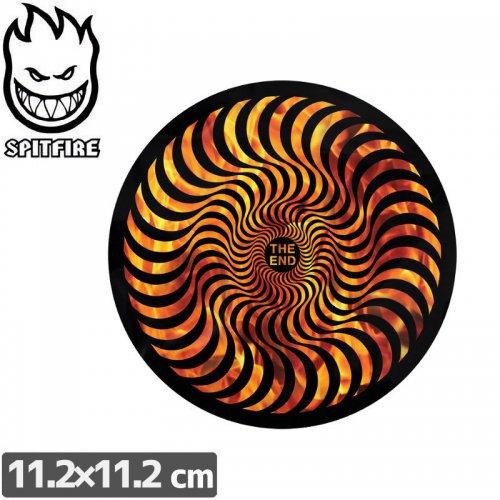 【スピットファイアー SPITFIRE スケボー ステッカー】HELLFIRE CLASSIC SWIRL【11.2cmx11.2cm】NO97