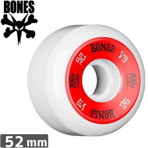 【ボーンズ BONES スケボーウィール】100's OG FORMULA ホワイト【V5】【52mm】NO161