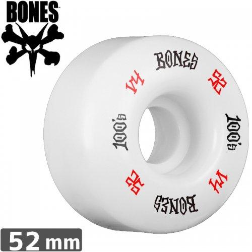 【ボーンズ BONES スケボーウィール】100's #12 OG FORMULA ホワイト【V4】【52mm】NO162