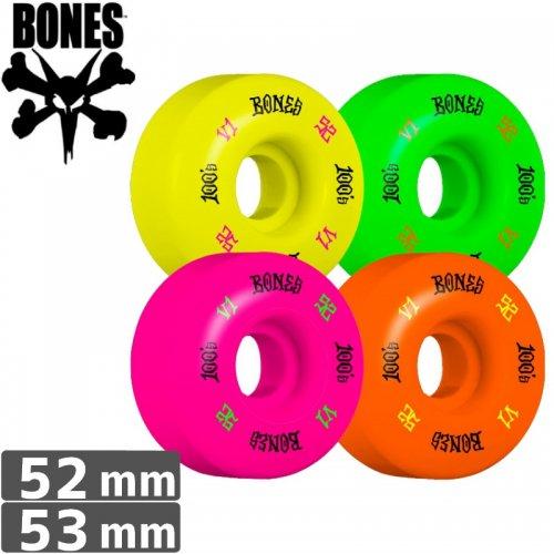 【ボーンズ BONES スケボーウィール】100's PARTY PACK #4 OG FORMULA マルチ【V1】【52mm】NO163