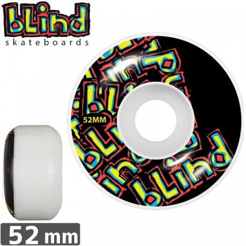 【ブラインド BLIND スケボー ウィール】LETTER DROP BLACK【52mm】NO20